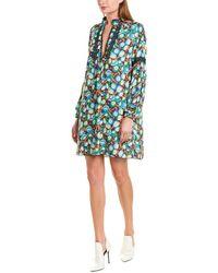 Anna Sui Pom Pom Posies Shift Dress - Green