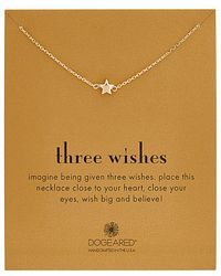 Dogeared - Three Wishes 14k Over Silver Necklace - Lyst