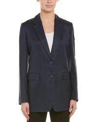 Donna Karan - Linen-blend Blazer - Lyst
