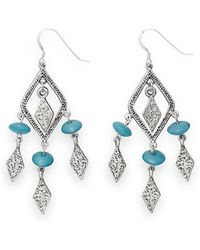 ALEX AND ANI Crystal Earrings - Blue