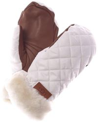 UGG Quilted Leather Performance Mittens - White