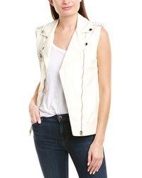 Pinko Illustre Leather Vest - White