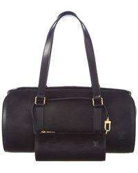 Louis Vuitton - Noir Epi Leather Soufflot - Lyst
