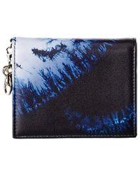 Dior Mini Lady Leather Card Holder - Blue