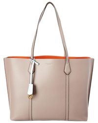 Tory Burch Perry Triple Compartment Leather Tote - Multicolour