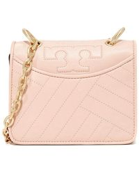 Tory Burch Alexa Mini Leather Shoulder Bag - Pink