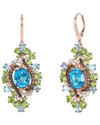 Le Vian Crazy Collection® Multi-gemstone Drop Earrings (15-3/4 Ct. T.w.) In 14k Rose Gold - Blue