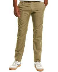 AG Jeans Slim Linen-blend Trouser - Green