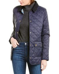 Barbour Naomi Quilted Coat - Blue
