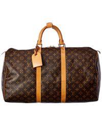 Louis Vuitton Monogram Canvas Keepall 50 - Brown
