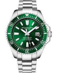 Stuhrling Original Men's Aquadiver Watch - Green