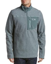 Mountain Hardwear Toasty Twill Fleece 1/2 Zip - Grey