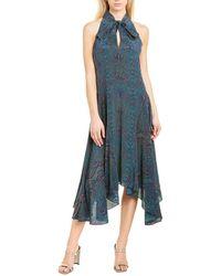Joie Breeda Silk Midi Dress - Blue