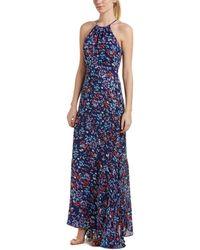 Parker Floral Maxi Dress - Blue