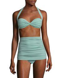 Norma Kamali Halter Bikini Top - Green
