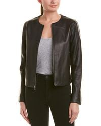 Vince - Silk-lined Leather Jacket - Lyst