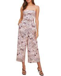 Astr Kona Linen-blend Jumpsuit - Multicolour