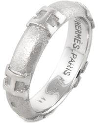 Hermès Hermes 18k H Ring - Metallic