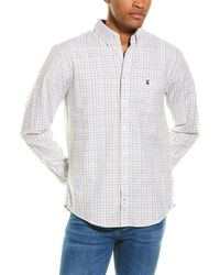 Joules Welford Classic Fit Woven Shirt - White