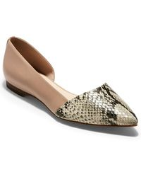 Cole Haan Bambra Skimmer Ii Leather Flat - Multicolour