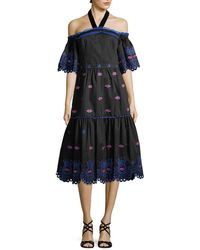 Temperley London - Calligraphy Cotton Dress - Lyst