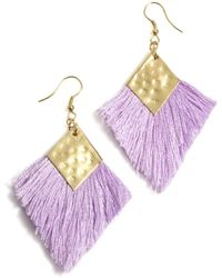 Shiraleah Selma Earrings - Purple