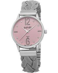 August Steiner - Women's Stainless Steel Diamond Watch - Lyst