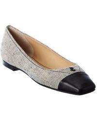Jimmy Choo Gisela Leather Flat - Black
