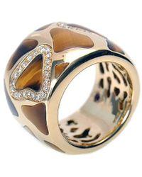Roberto Coin 18k Two-tone 0.50 Ct. Tw. Diamond & Tiger's Eye Ring - Metallic