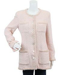 Chanel Pink Tweed Jacket (fr 40)