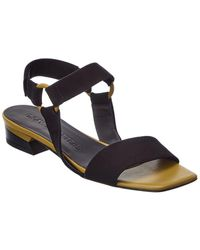 Gray Matters Nastro Suede & Leather Sandal - Green