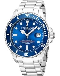 Stuhrling Original Men's Stainless Steel Watch - Blue