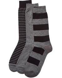 Sperry Top-Sider 3pk Crew Socks - Black