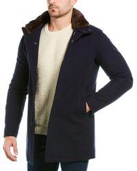 Herno Wool-blend Coat - Blue