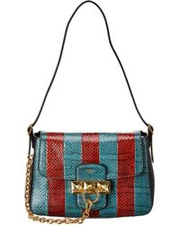 Mulberry Keeley Mini Snakeskin & Leather Shoulder Bag - Red