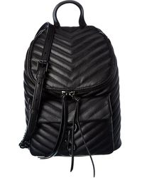 Rebecca Minkoff Edie Quilted Leather Backpack - Black