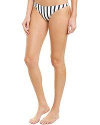 MILLY Cabana Tropez High-cut Bikini Bottom - White