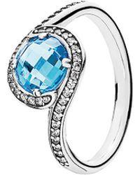 PANDORA - Radiant Embellishment Silver Cz Ring - Lyst