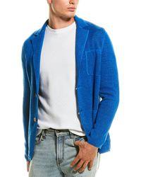 Missoni Wool-blend Woven Jacket - Blue