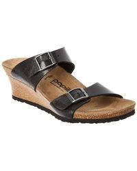 Birkenstock Papillio Dorothy Graceful Leather Sandal - Black