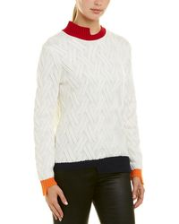 Armani Exchange - Colorblocked Wool-blend Sweater - Lyst