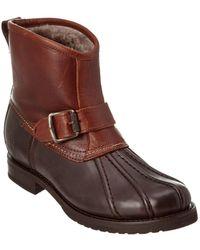 Frye Women's Veronica Engineer Leather Duck Boot - Brown