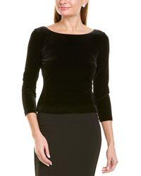 Eliza J 3/4-sleeve Top - Black