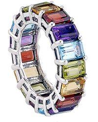Samuel B. Silver 10.26 Ct. Tw. Gemstone Ring - Metallic