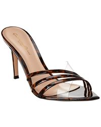 Gianvito Rossi Patent Mule - Brown