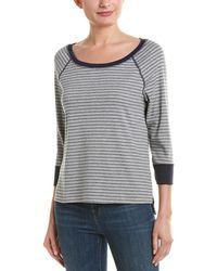 Three Dots 3/4-sleeve Pajama Top - Gray