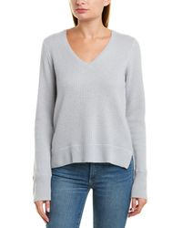 James Perse Thermal Cashmere Sweater - Gray