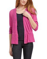 NIC+ZOE Linen-blend Cardigan - Pink