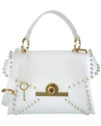 Zac Posen Amelia Mini Leather Satchel - White