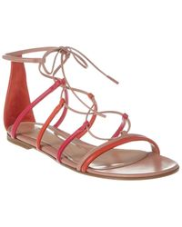 Gianvito Rossi Gladiator Leather Sandal - Red